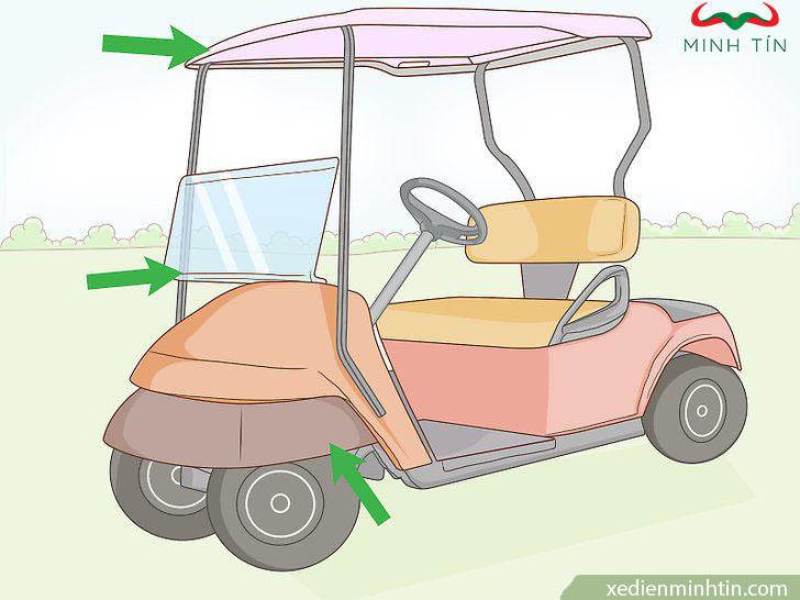 sơn xe điện sân golf mới